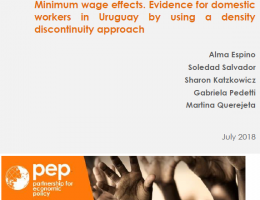 Minimum wage effects. Evidence for domestic workers in Uruguay by using a density discontinuity approach
